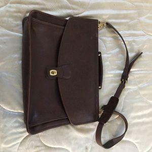 Authentic coach briefcase bag